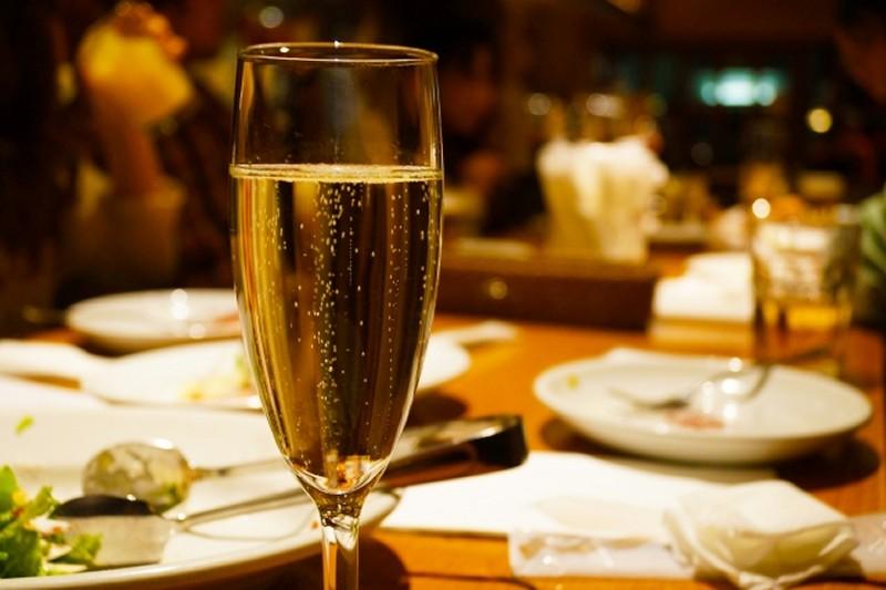 クリスマスのシャンパン