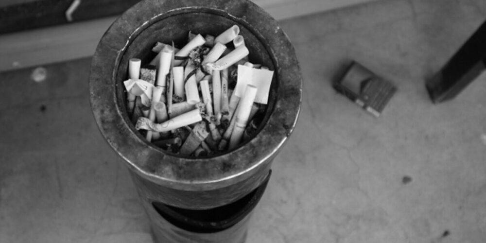 瀬野川病院の喫煙所