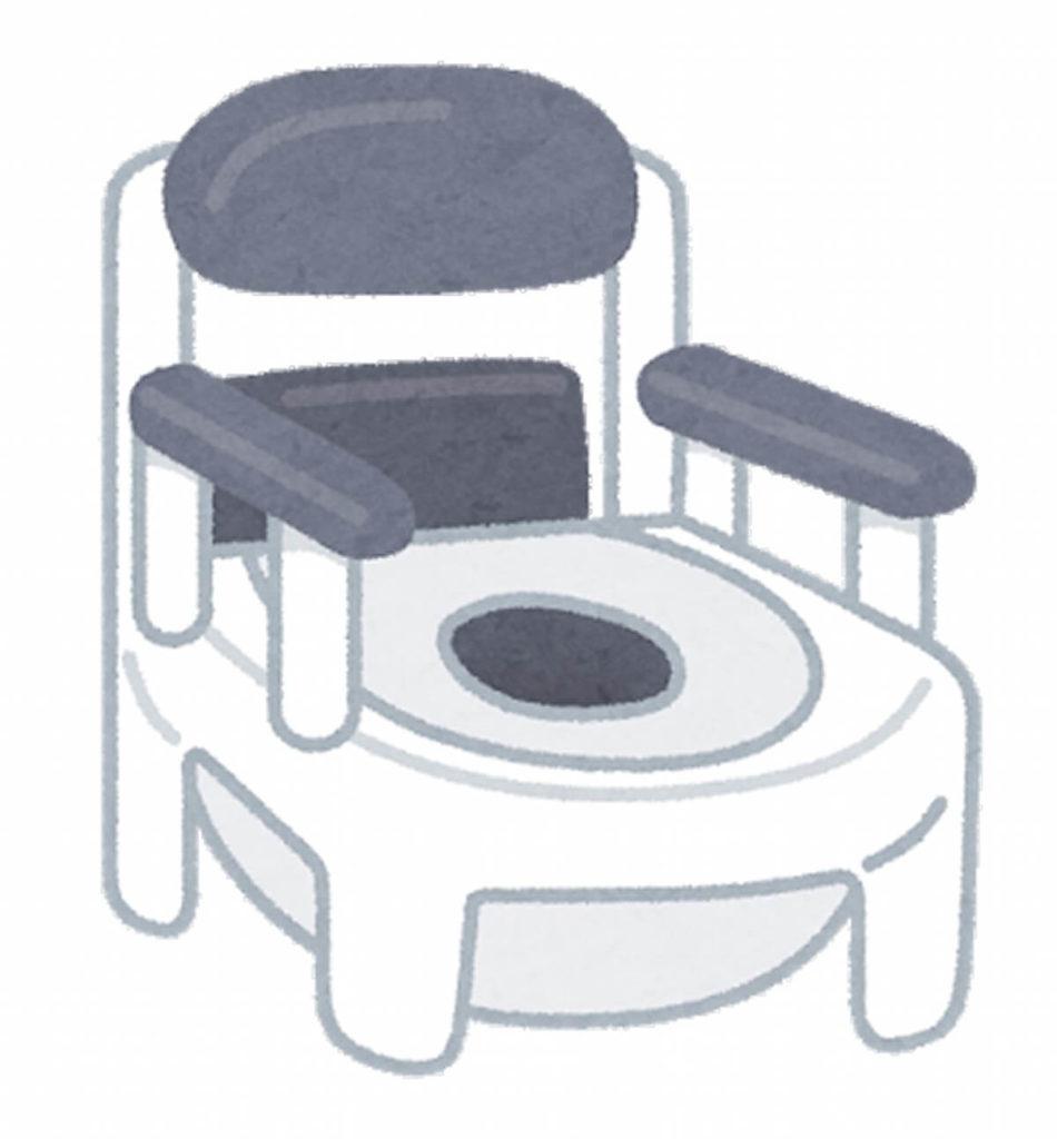 精神科・閉鎖病棟の個室のポータブルトイレ