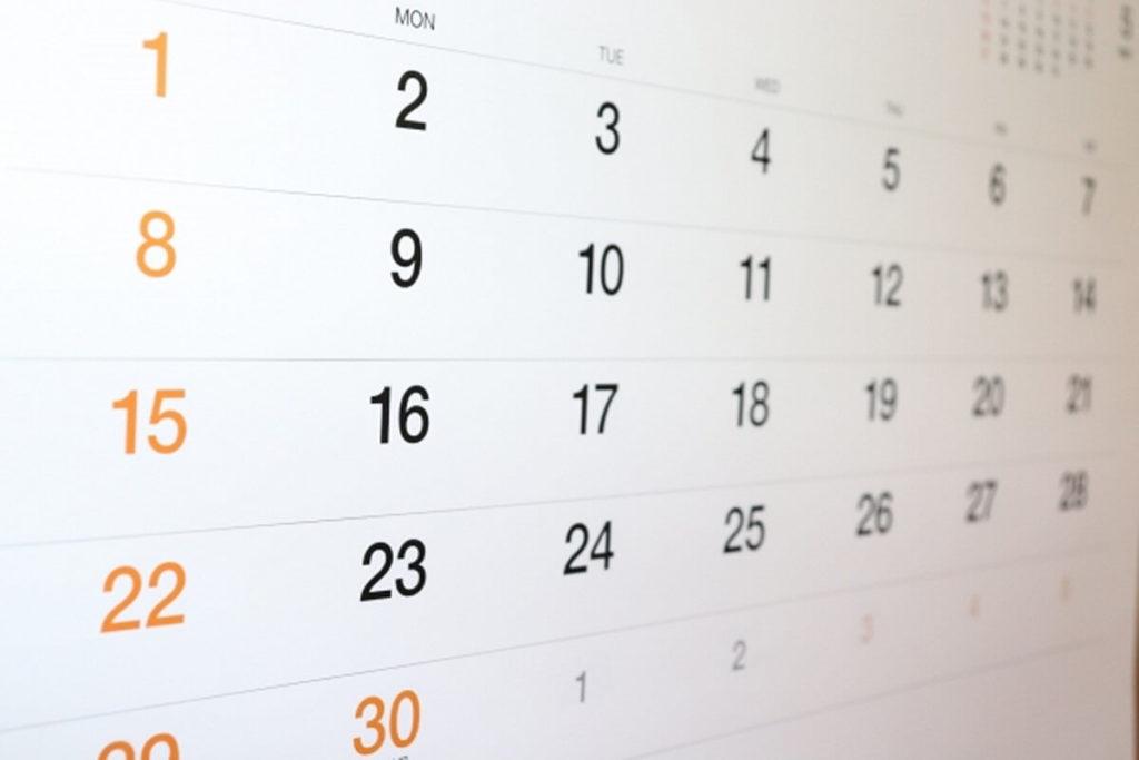 精神病院・閉鎖病棟のカレンダー