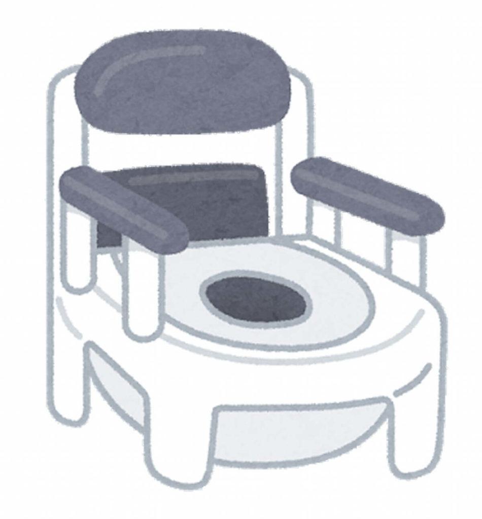 精神科の個室のポータブルトイレ