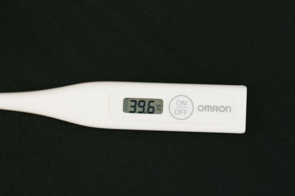 入院生活の検温の体温計