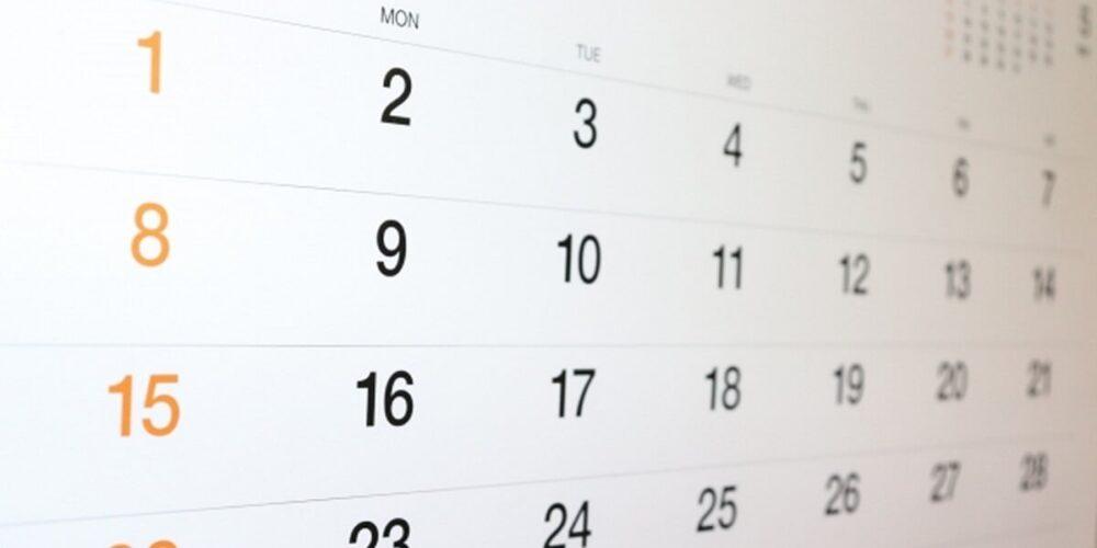 閉鎖病棟のカレンダー